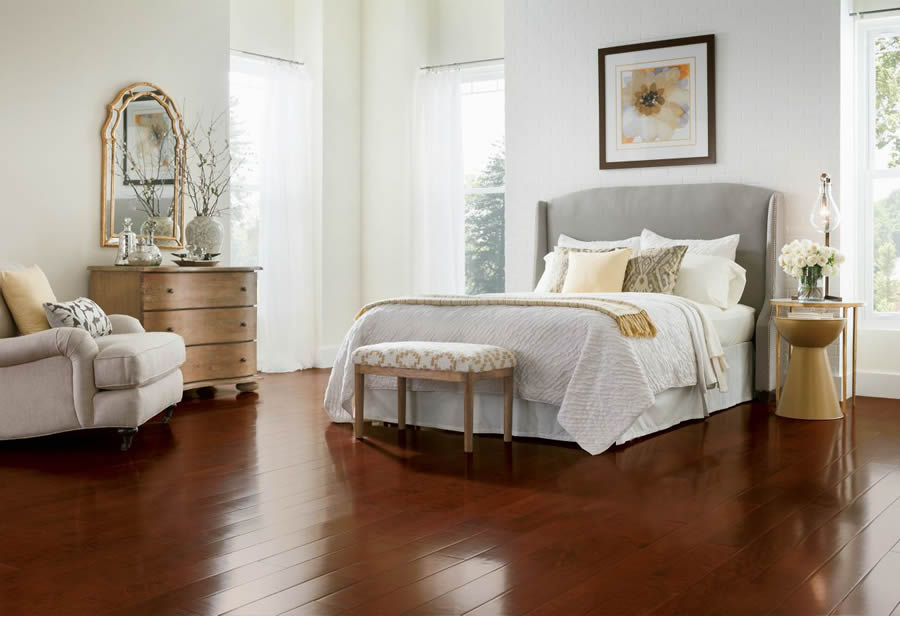 a hardwood floor is beautiful in its own right the richness and character of natural wood grain enhances just about every dcor and design style