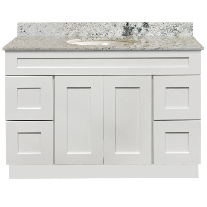 Bathroom Cabinet Vanity Shaker White 4821D