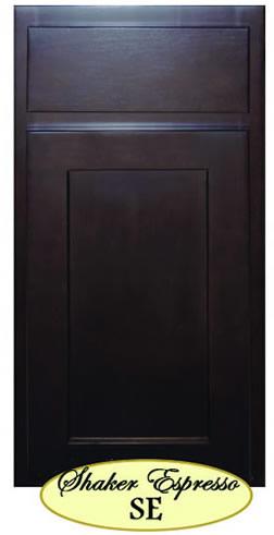 Walnut Ridge Cabinetry Shaker Espresso Kitchen Cabinet Door